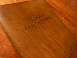 Earthworks Journals Custom text on Brown Leather Ringbinder