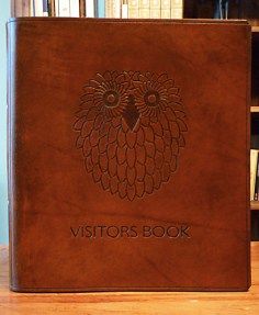 Earthworks Journals Customised Brown Leather Ring Binders for Guy Mallinson at Crafty Camping