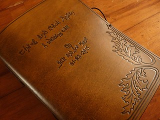 Earthworks Journals Tolkien Inspired Brown Leather Wedding Guestbook