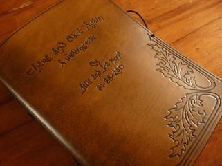 Earthworks Journals Tolkien Inspired Brown Leather Wedding Guestbook