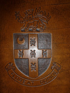 Earthworks Journals, Heraldic Coat of Arms on Leather Journal