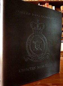 Earthworks Journals Black Leather Binder for RAF Officer's Mess