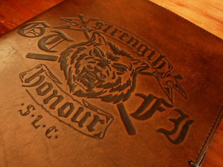 Earthworks Journals Leather Journal with Custom Club Logo