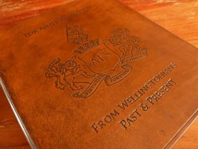 Earthworks Journals Leather Binder with Wellington College Crest