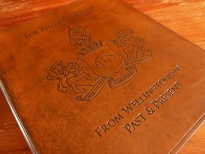 Earthworks Journals Leather Binder with Wellington College Crest