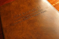 Earthworks Journals A4 Brown Leather Binder Personalised for Classic Car Bentley Owner