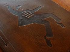 Elvis Presley design on brown leather journal - Earthworks Journals