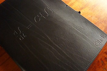 Earthworks Journals A4 Black Leather Journal with Custom Equation Design