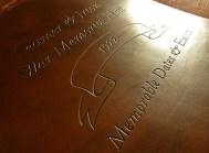 Earthworks Journals Custom Leather Binder for Seamer & Irton War Memorial Hall