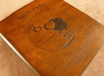 Earthworks Journals A4 Leather Ring Binder with Custom Design and Text