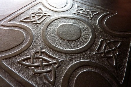 Earthworks Journals Custom Black Leather Binder for Wakefield Cathedral