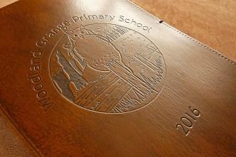 Earthworks Journals Leather Journal for Woodland Grange Primary School