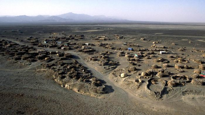 Afar depression, 120 meters below sea level, an arid region near the Eritrean border in Ethiopia