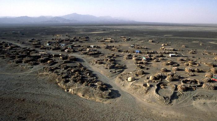 Afar depression, 120 meters below sea level, an arid region near the Eritrean border in Ethiopia