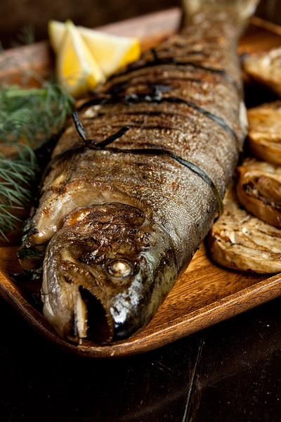 Herb-stuffed Trout on the Grill