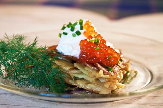 Potato Galette with Salmon Caviar