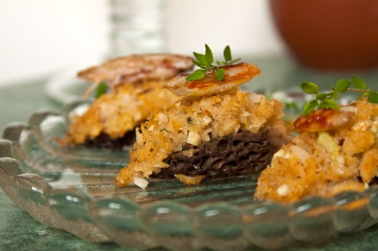 Crab-stuffed Morel Mushroom
