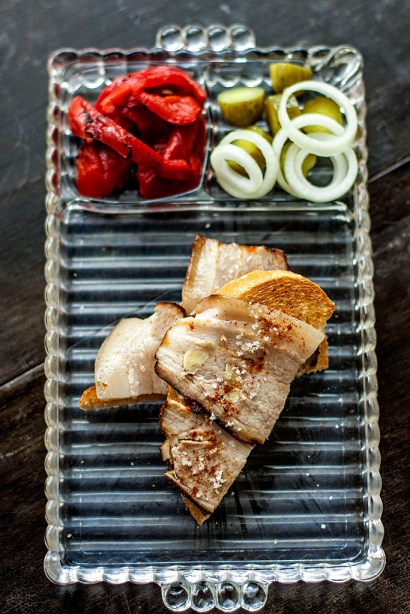 Pork Belly, Hungarian-style with traditional accompaniments