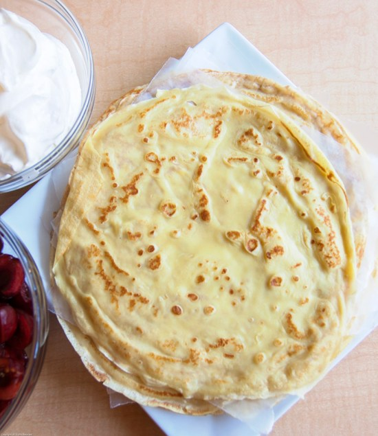 Crêpes, ready for filling