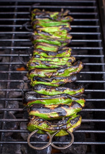 Grilling Shishito Peppers