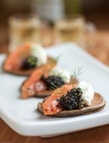 Buckwheat Blini with Caviar
