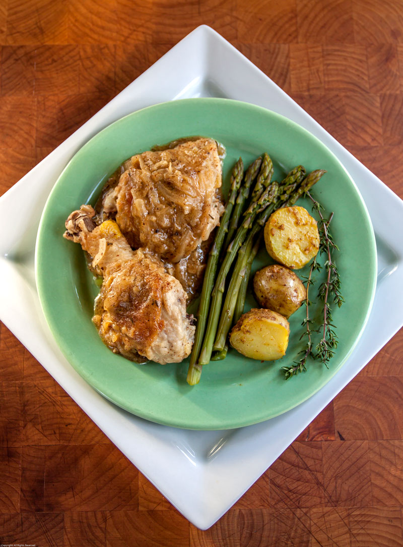 Honey Mustard and Beer Braised Chicken