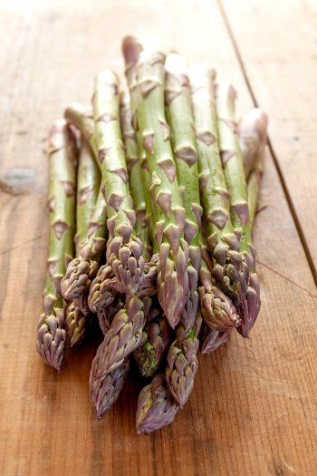 Fresh, plump asparagus spears