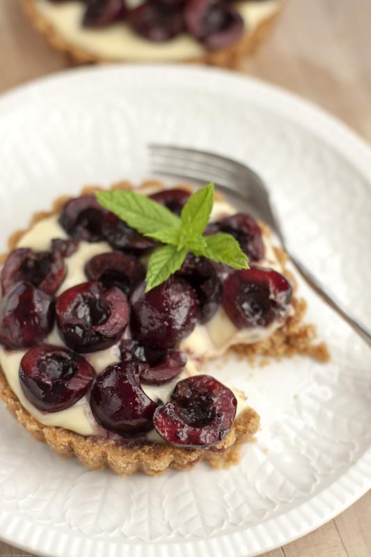 Bite of cherry tart