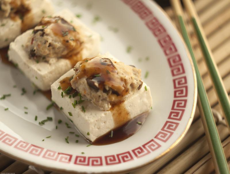 Sausage-stuffed Tofu