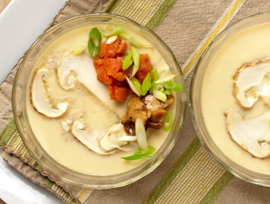 Chawan Mushi with Matsutake Mushrooms
