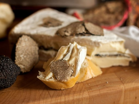 Truffled Brie on baguette