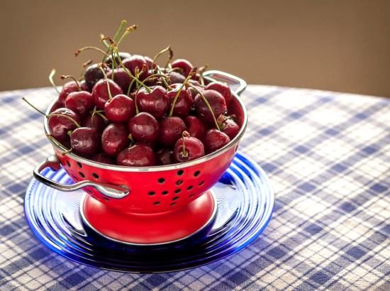 Dark, sweet Michigan cherries