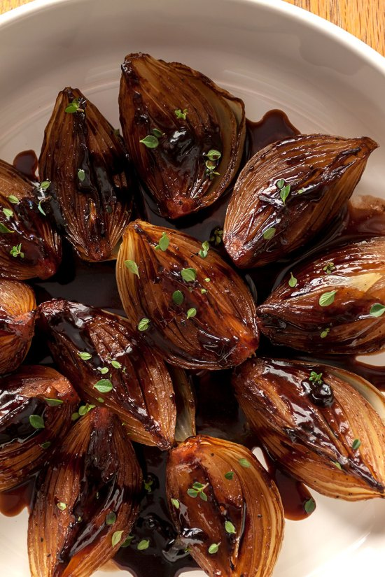 Roasted Onions with Balsamic Cream