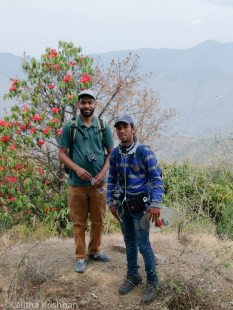 Visitor with Viru the guide