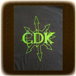 """Green on Black CDK """"Chaos"""" T-Shirt"""