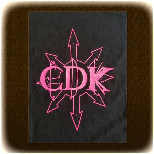"""Pink on Black CDK """"Chaos"""" T-Shirt"""