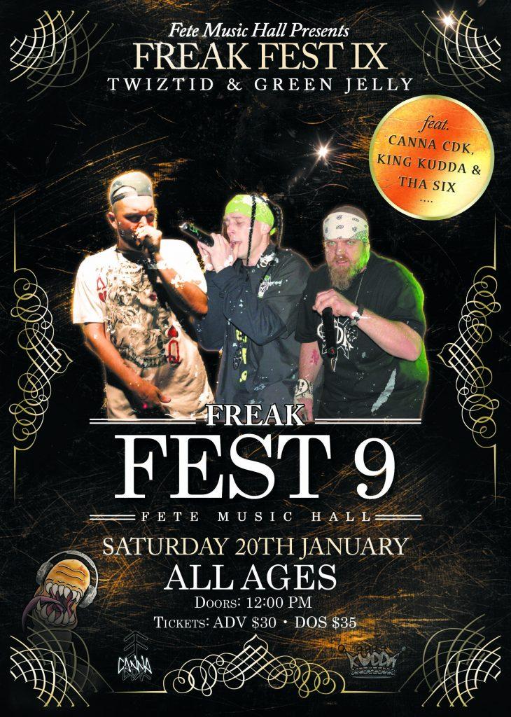 Freak Fest 9 Tickets Now Available on Earworm