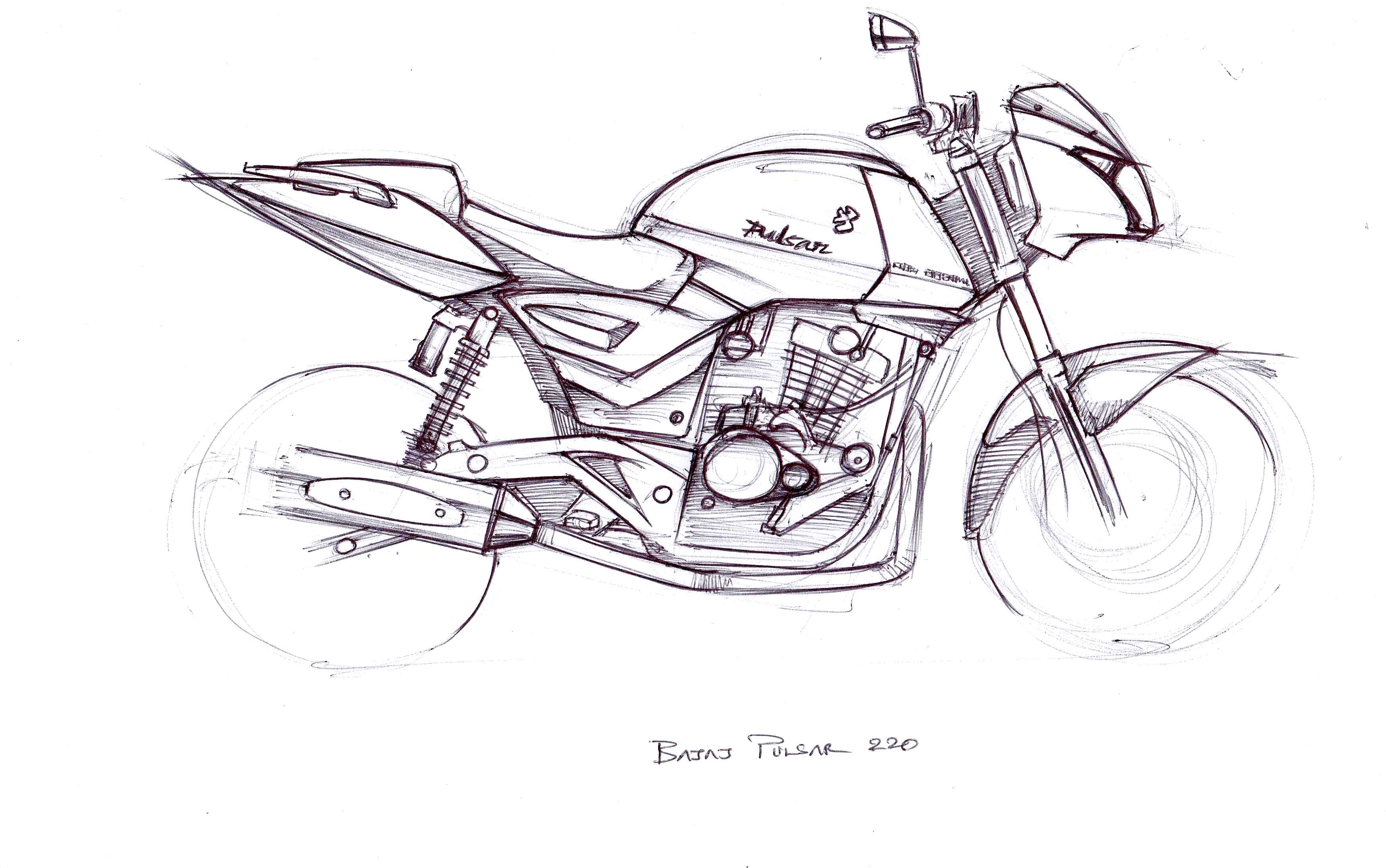 Quick Sketch Bajaj Pulsar 220 Eas2 S Blog