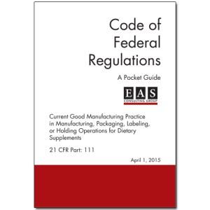 EAS Pocket Guide 21 CFR 111 Cover
