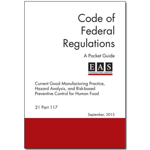 EAS Pocket Guide 21 CFR 117 cover
