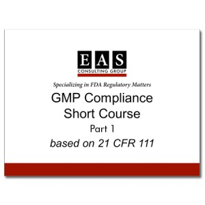 EAS Product Webinar Replay GMP Compliance Short Course Part 1