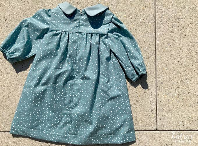 Sewing pattern review for the Karina dress for babies #sewing #sewingforkids