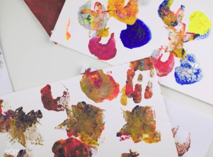 sponge stamps with kids #diy #artswithkids