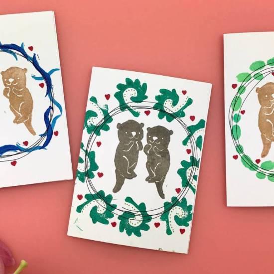 make your own stamps #diy #otterstamp