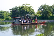 Created with two boats, a platform and motor… Indian 'Jugaad' at its best!