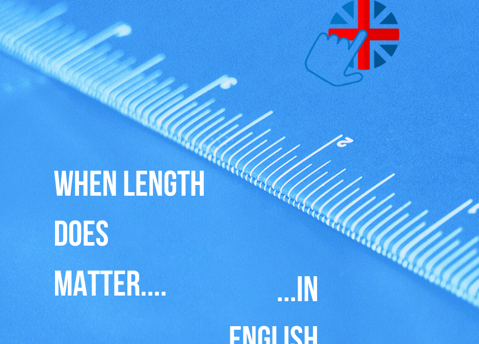 Using long and short forms in English…length matters!