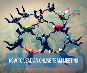 how to lead an online team meeting