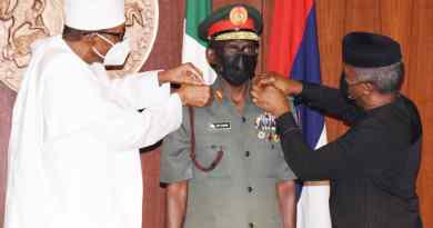 PMB Decorates CDS, Other Services Chiefs