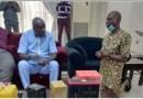 Reactions as Senator kneels before ex-Governor Ibori