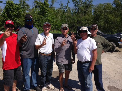 Left to right, Micah Mire & Roderick Saylor, Jim Hebert & Mike Achord, Terry Molea and Mike Guitreau